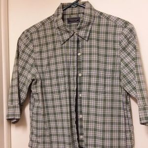 American Eagle Womens Button up Plaid Top Size M
